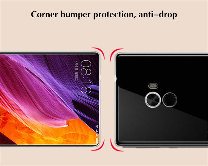 Luanke Transparent TPU Soft Case Protective Cover Phone Protector for Xiaomi Mi MIX