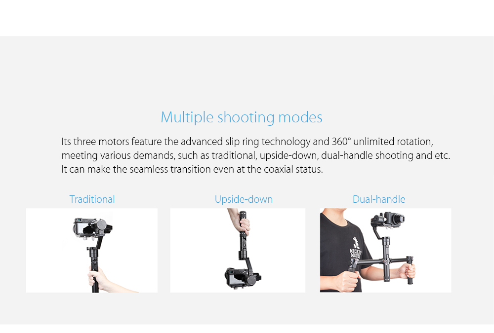 Zhiyun Crane - M Handheld Gimbal with 3-axis 360 Degree Unlimited Rotation for Digital Cameras