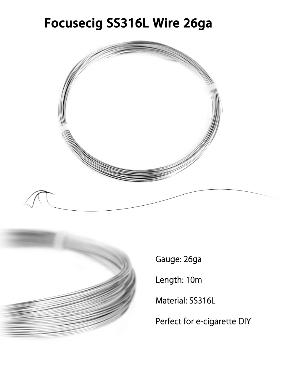 Original Focusecig SS316L Wire / Heating Wire with 26ga