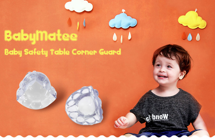 8PCS BabyMatee Cartoon Baby Infant Safety Anti-collision Table Desk Corner Guard Protector