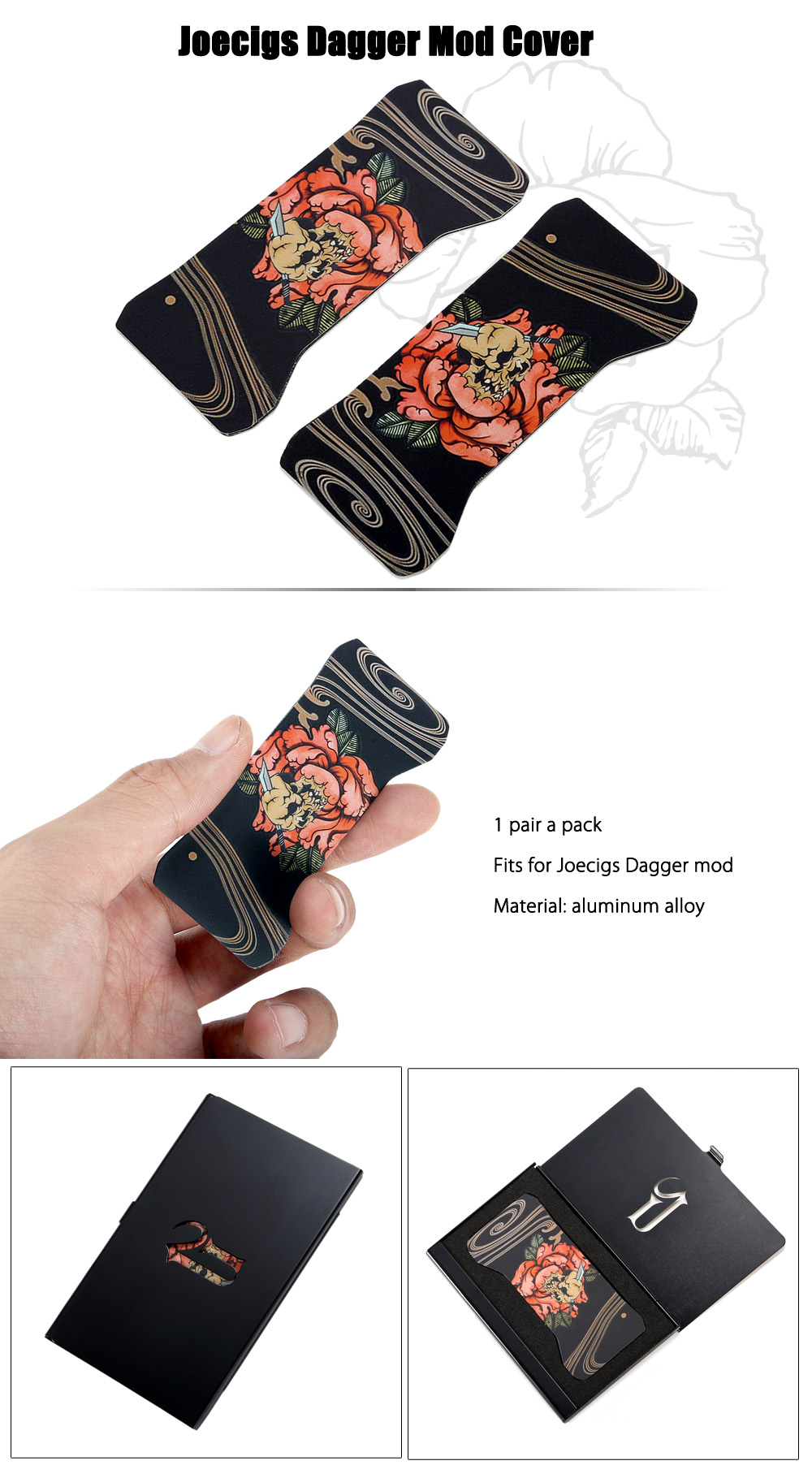 Original Joecigs Dagger Mod Cover with Aluminum Alloy Construction for E Cigarette