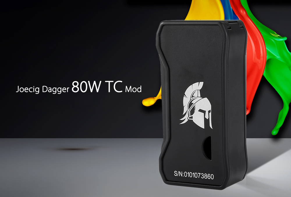 Original Joecig Dagger 80W TC Mod with 100 - 315C / 200 - 600F / Supporting 1pc 18650 Battery for E Cigarette