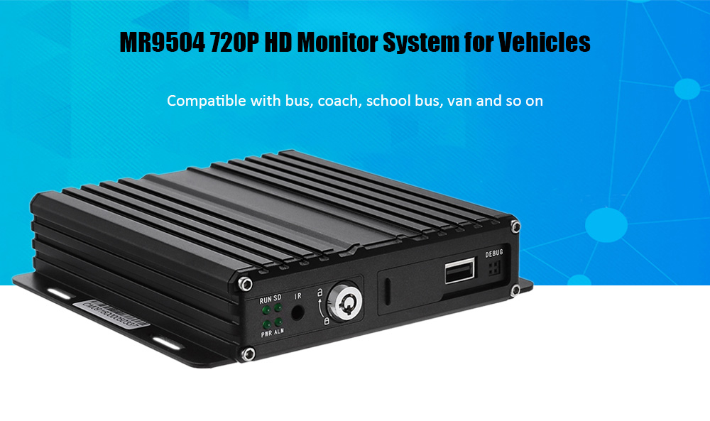 MR9504 720P Monitor System for Vehicles with G-sensor Function