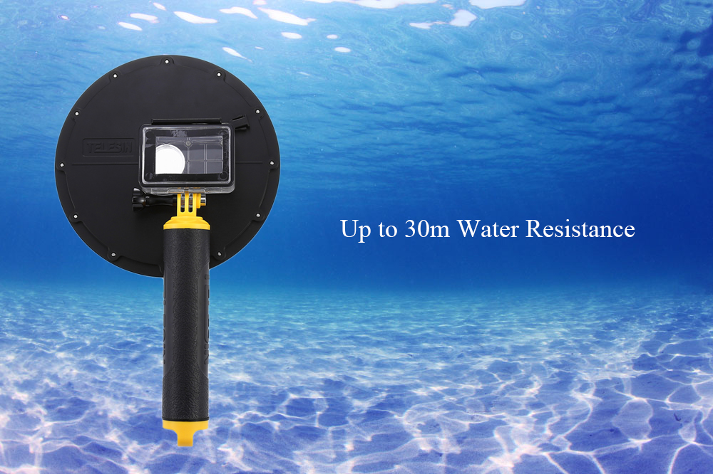 TELESIN Dome Underwater Diving Camera Cover with Floaty Grip Bobber for YI II