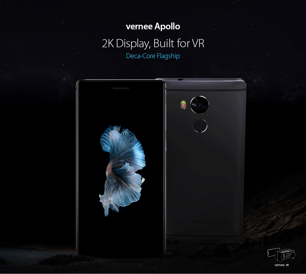 Vernee Apollo Android 6.0 5.5 inch 4G Phablet Helio X25 2.5GHz Deca Core 4GB RAM 64GB ROM 8.0MP + 21.0MP Fingerprint Scanner