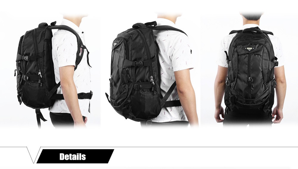 Compact 30L Nylon Removable Draw-bar Backpack Wheeled Bag