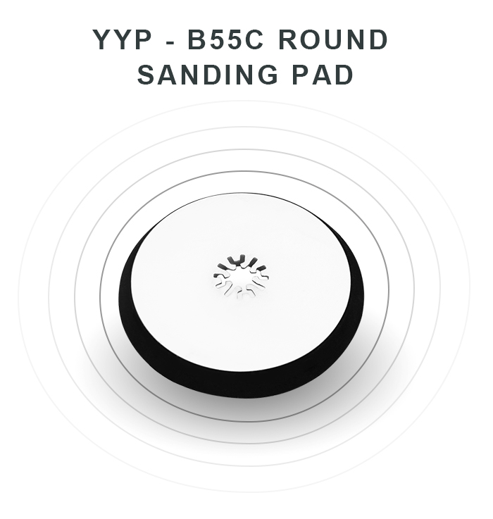 YYP - B55C Stainless Steel Round Sanding Pad Cutting Tool for Wood