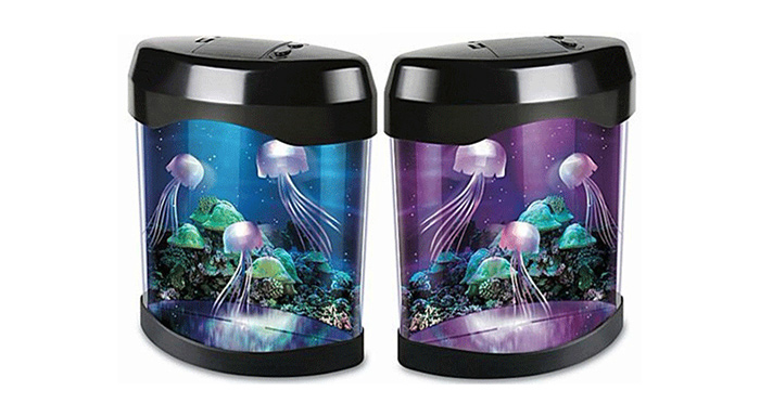 Jellyfish Box Party Bar Toy Ocean Science Home Room Decor with Colorful LED Light