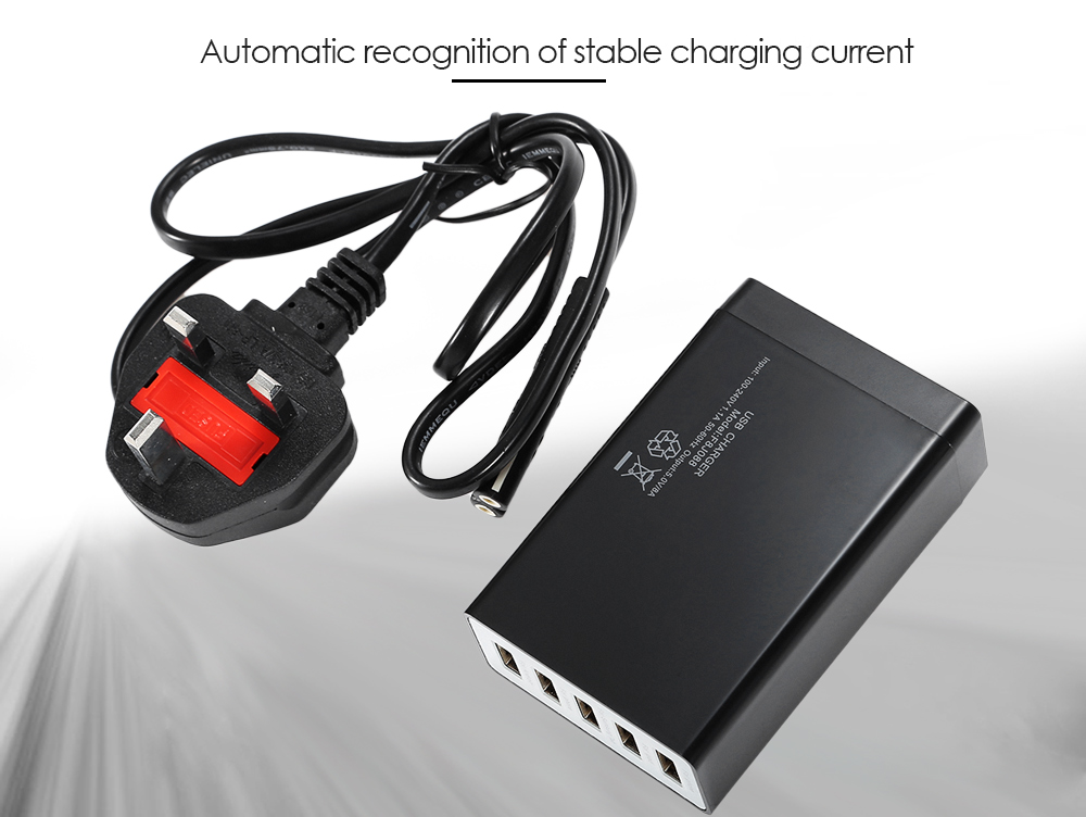 All-in-one USB Charging Dock Wall Charger Power Adapter 5 Output Ports