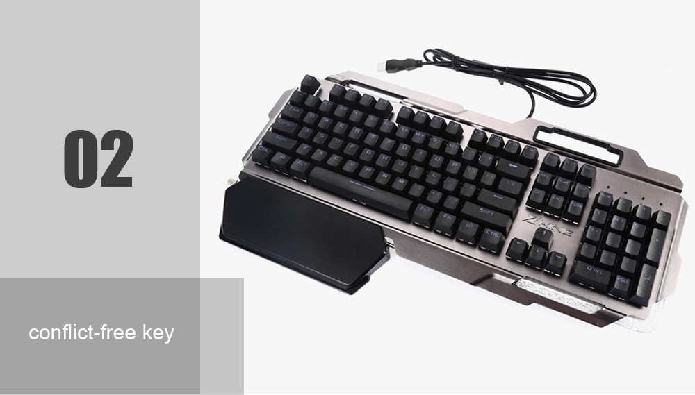 king X5 Mechanical Gaming Keyboard Colorful Backlight Full N-key Rollover for PC Laptop