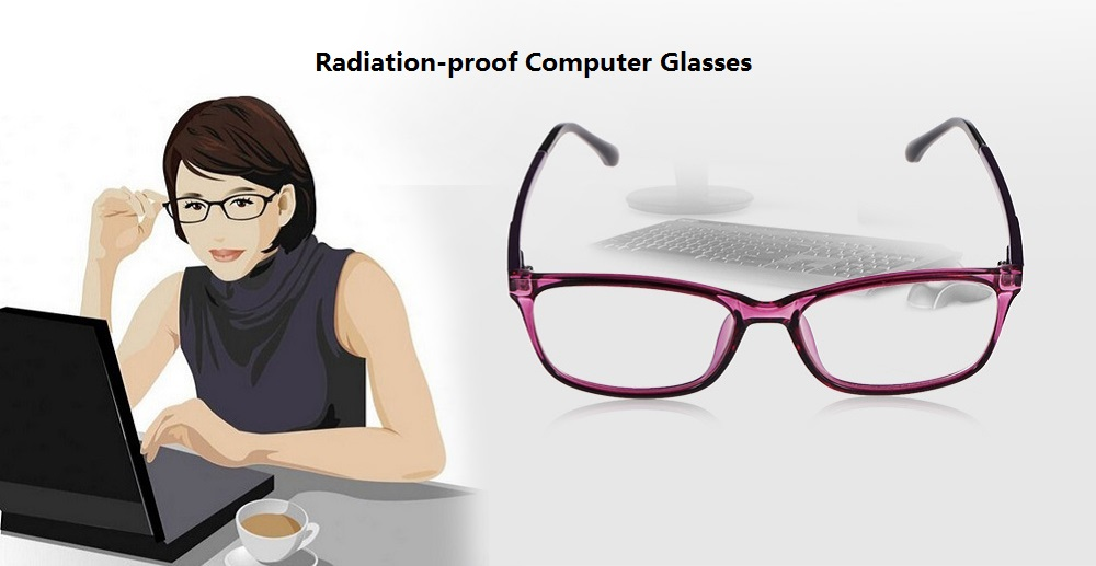 Unisex Protective Radiation-proof Computer Glasses Goggle with HD Resin Lens