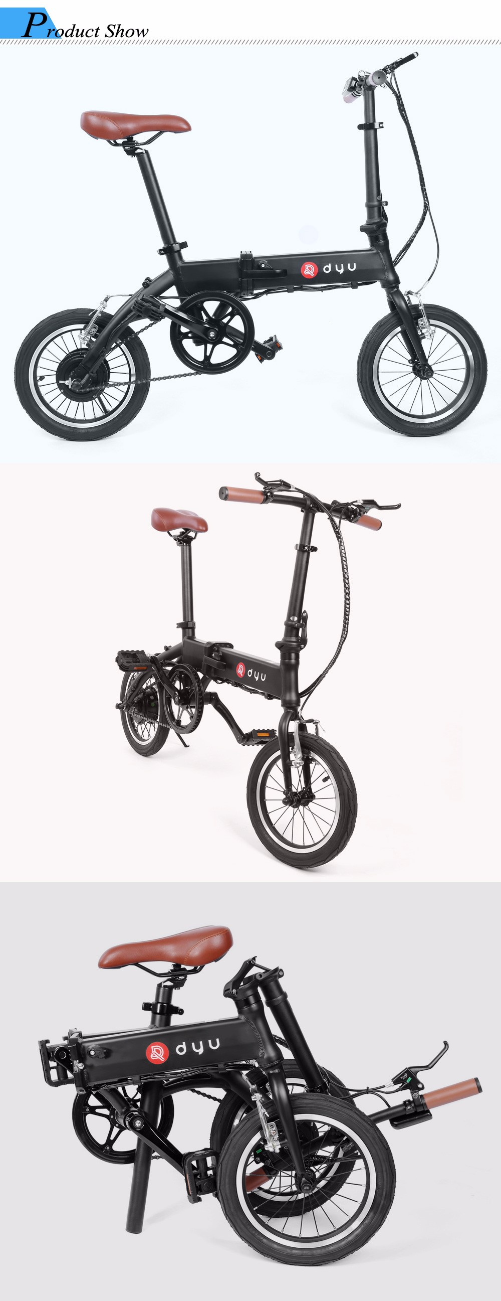 F Wheel Dyu 1 14 Inch Smart Folding Bike Electric