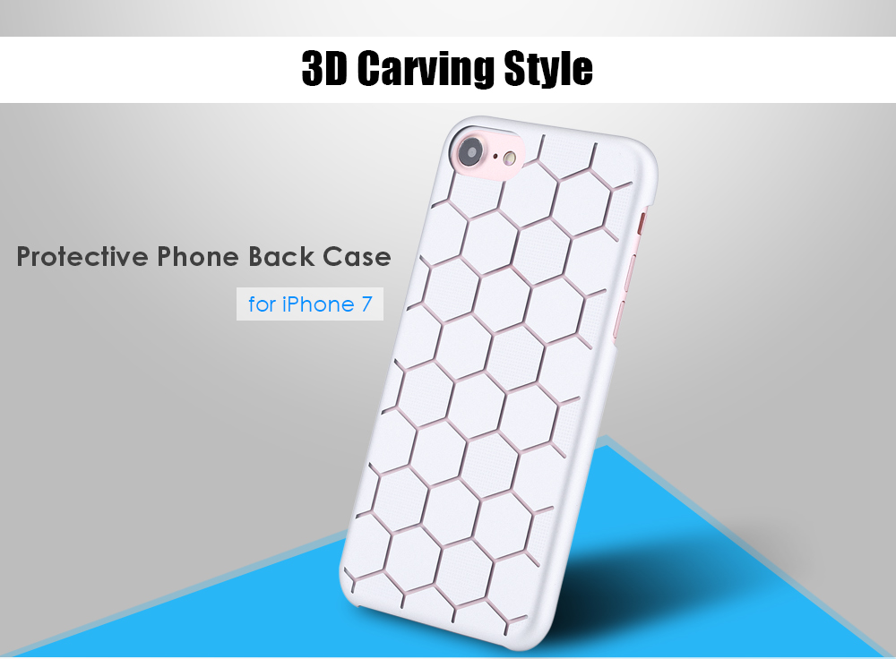Matte 3D Sculpture Carving Phone Back Case Protector for iPhone 7
