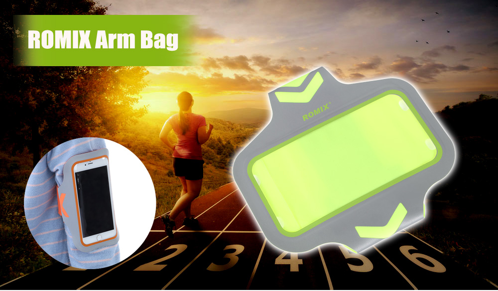 ROMIX RH17 Water-resistant Spandex Sports Arm Bag Pouch for 4.7 / 5.5 inch Mobile Phone