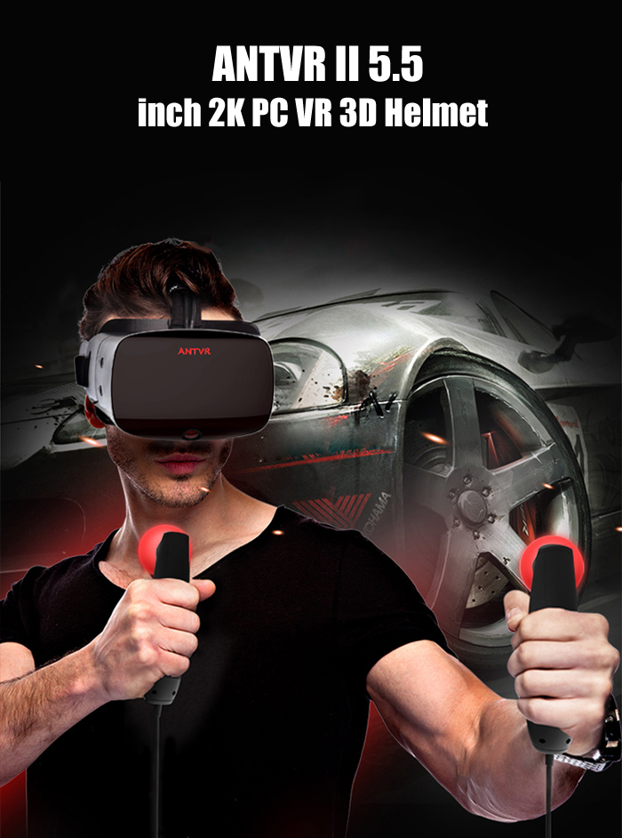 ANTVR II 90Hz Refresh Rate 5.5 inch 2K Resolution VR 3D Headset for PC ( Extension Version )