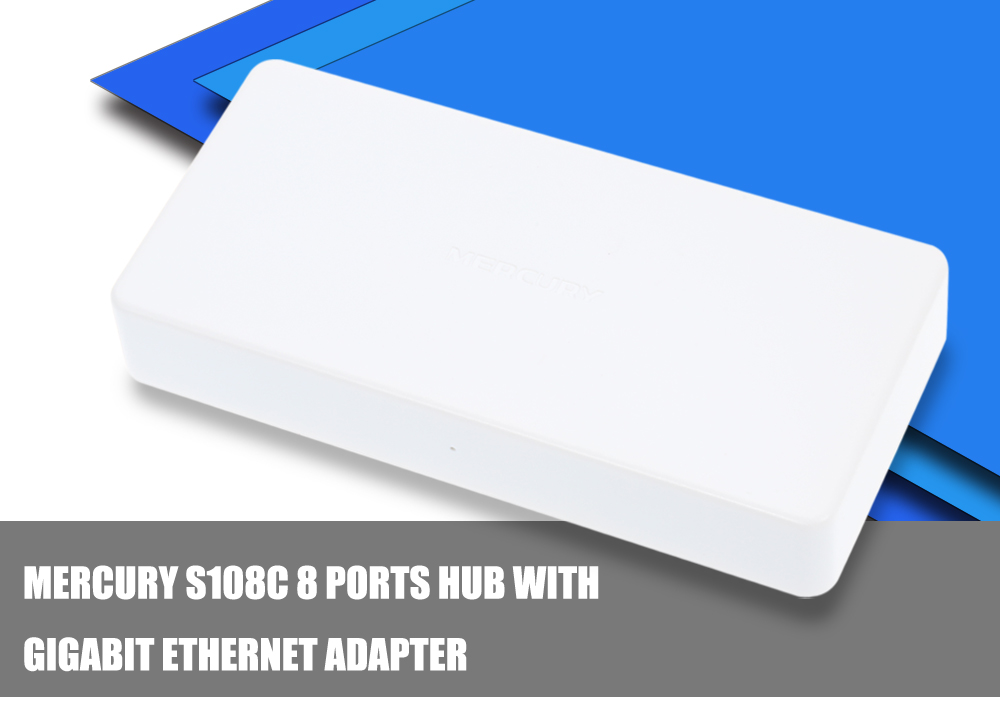Mercury S108C 8 Ports HUB High Speed Ethernet Adapter