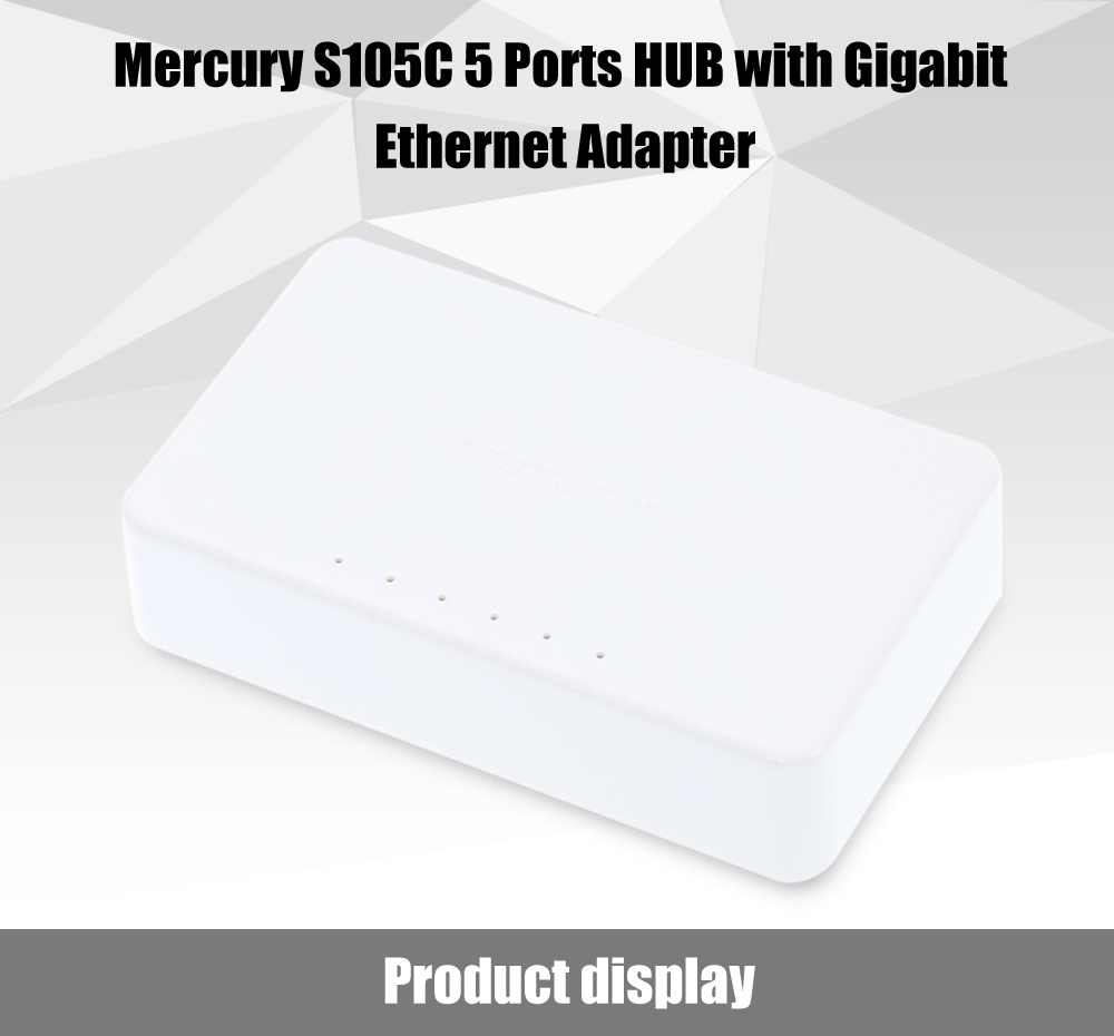 Mercury S105C 5 Ports HUB High Speed Ethernet Adapter