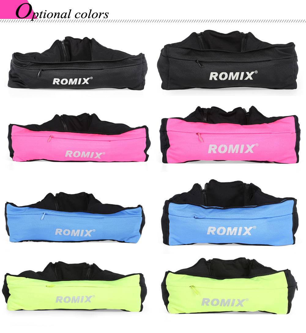 ROMIX RH26 Elastic Spandex Sports Waist Bag Pouch for 6 inch Mobile Phone