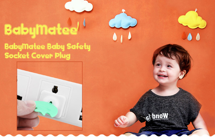 12PCS BabyMatee Child Baby Safety Outlet Plug Electric Socket Cover