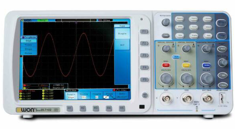 OWON SDS7102 Deep Memory Digital Storage Oscilloscope 8Bit Measuring Tool