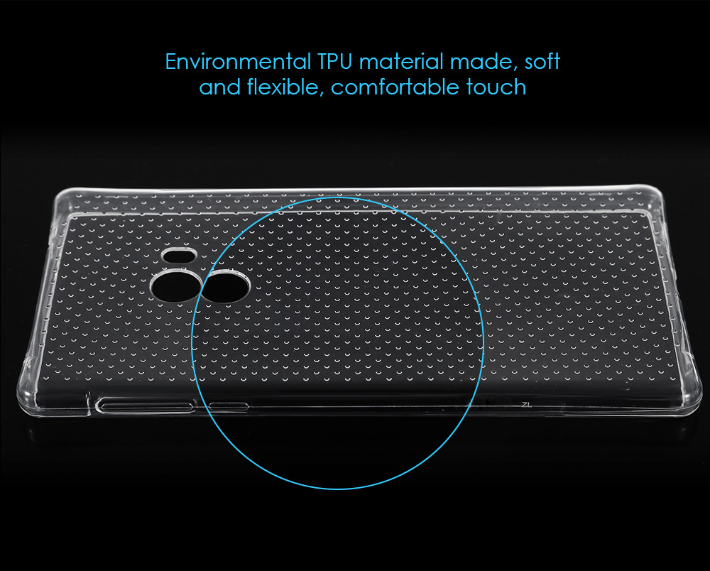 Transparent Style TPU Soft Case Protective Cover for Xiaomi Mi MIX with Salient Points Design