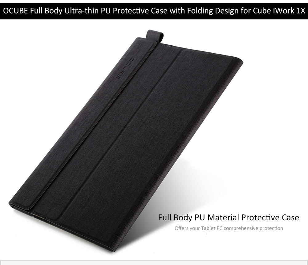 OCUBE PU Protective Case Full Body Folding Stand Design for Cube iWork 1X