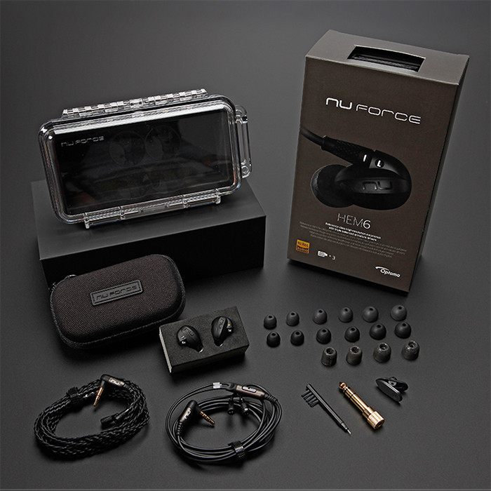 Nuforce HEM6 Balanced Armature Separable HiFi Earphones with Two Replaceable Cable
