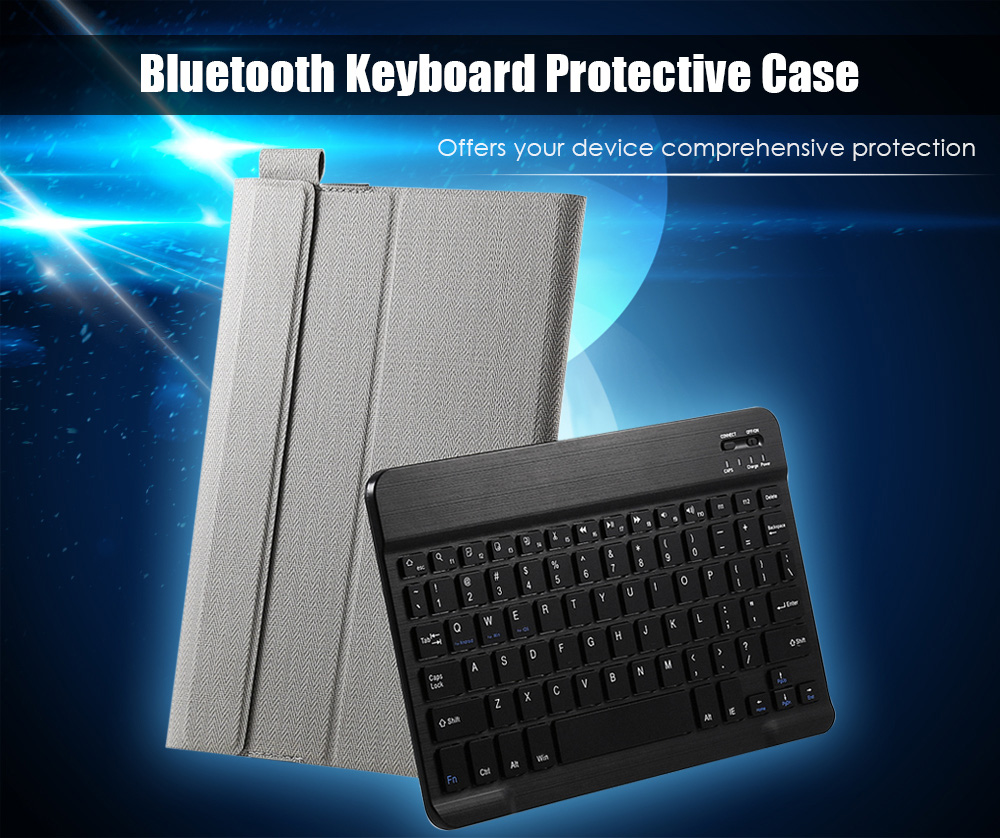 PU Leather Bluetooth Keyboard Foldable Function Protective Case for Onda Obook 20 Plus / Obook 10 SE / Obook 10 Dual OS Version