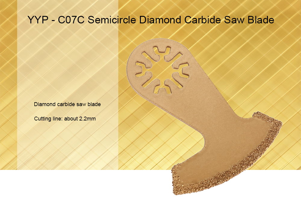 YYP - C07C Oscillating Multitool Diamond Carbide Saw Blade
