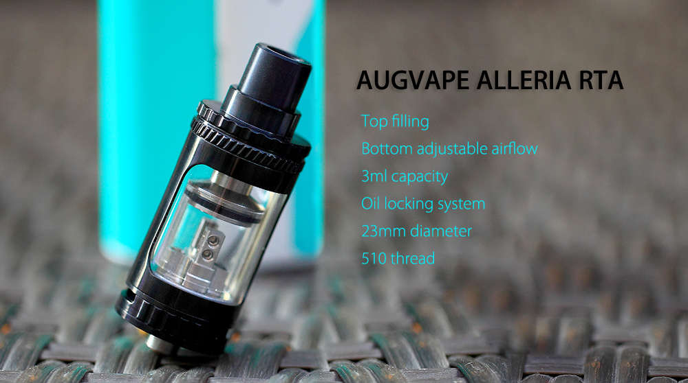 Original AUGVAPE ALLERIA RTA with Top Filling / 3ml Capacity / Oil Locking System for E Cigarette