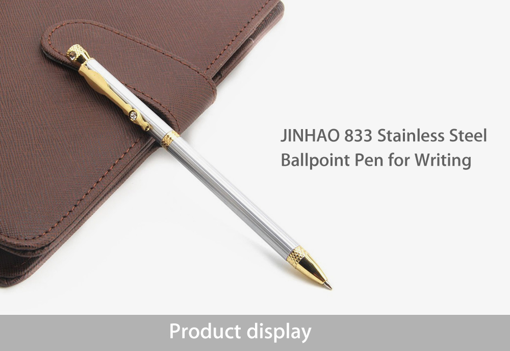 JINHAO 833 Stainless Steel Ballpoint Pen for Writing Office School Supplies