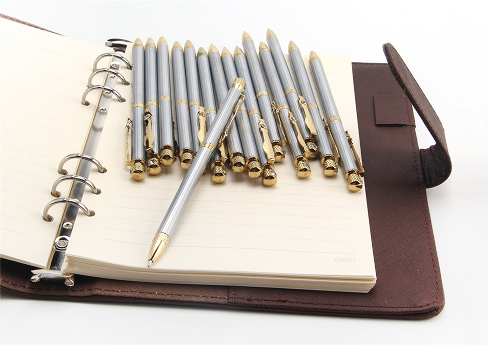 JINHAO 833 Stainless Steel Ballpoint Pen 15PCS for Writing Office School Supplies