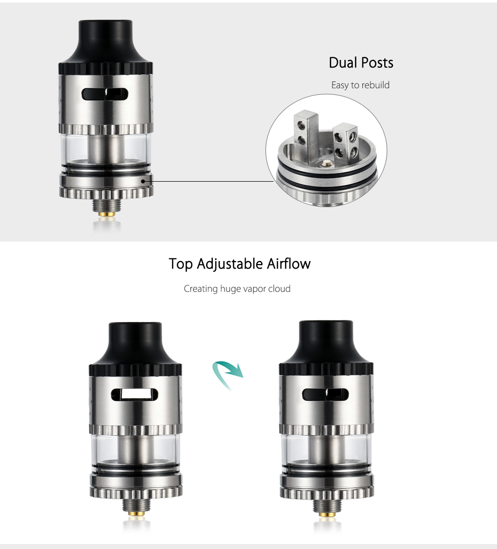 Original YOSTA IGVI RDTA with 1.5ml Capacity / Dual Posts / Top Adjustable Airflow for E Cigarette