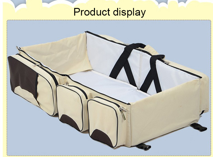 Foldable Baby Infant Crib Portable Cot Bed for Travel