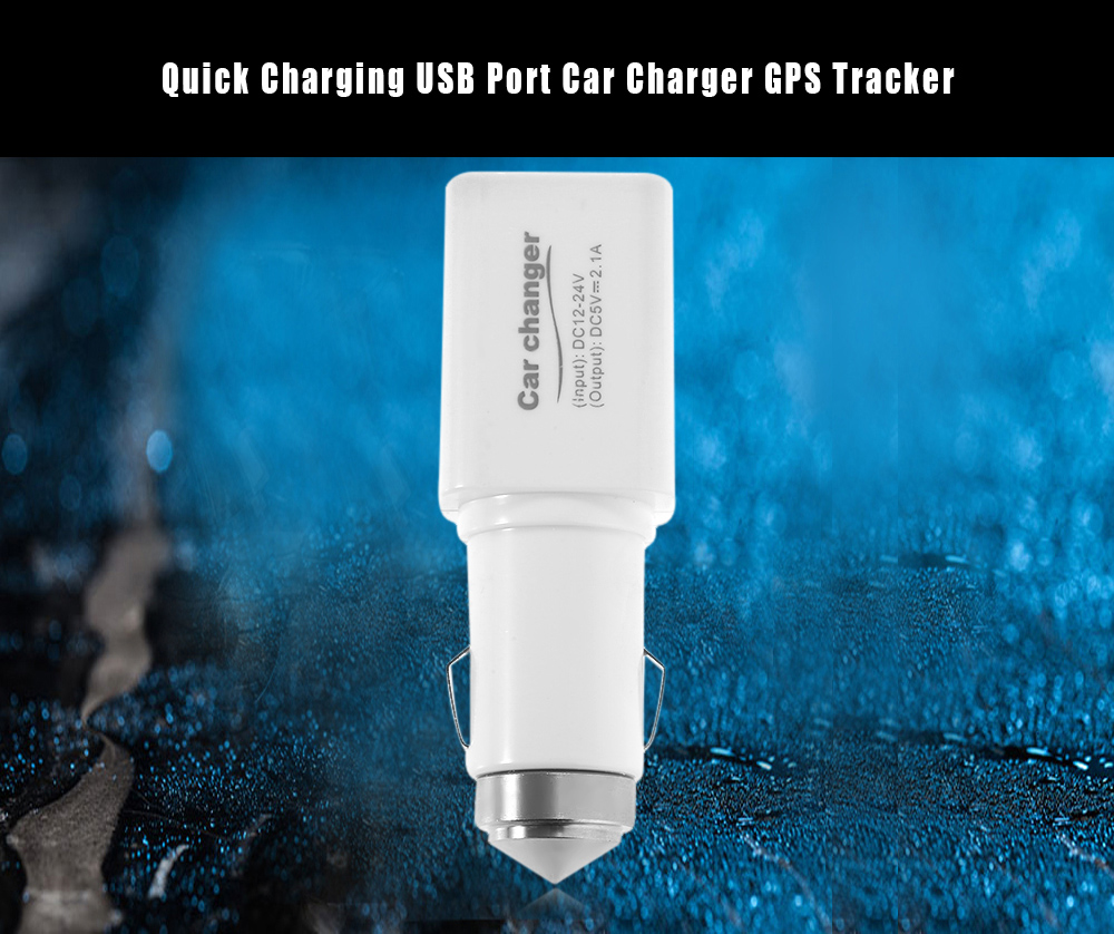 Quick Charging USB Port Car Charger GPS Tracker
