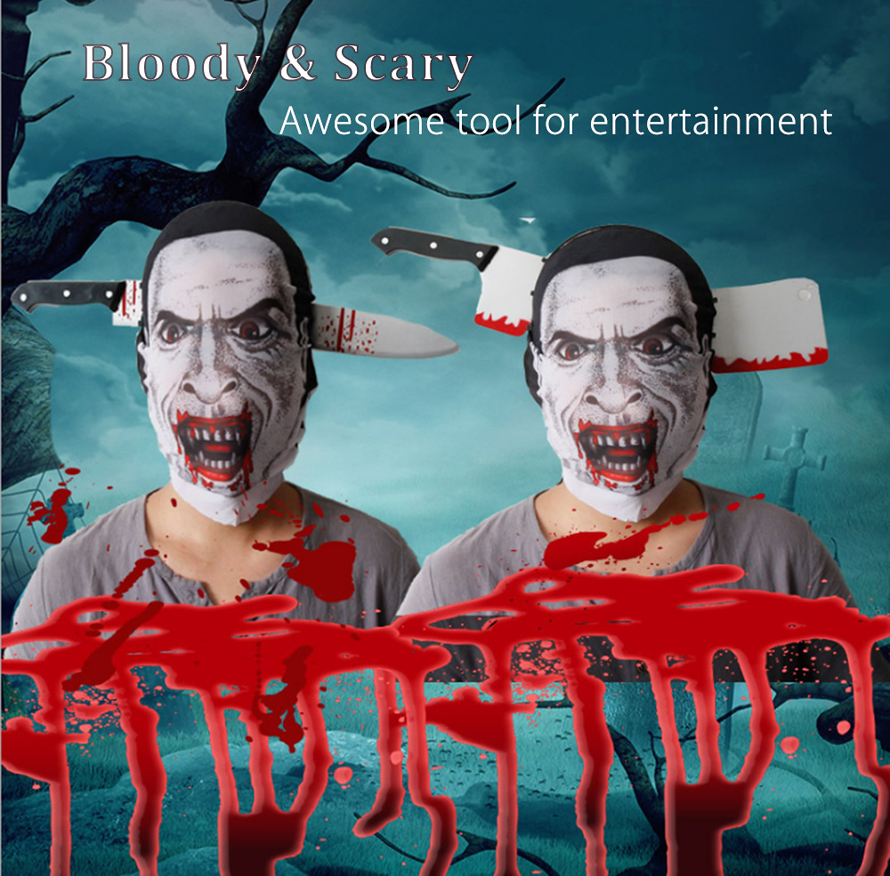 ABS Head Stabbing Knife Visual Effect for Halloween Party Amusement