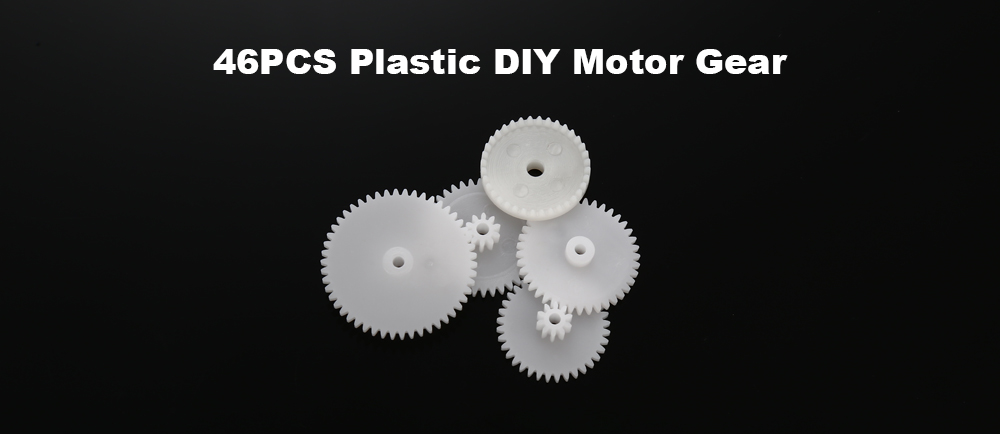 46PCS 0.5 Modulus Spare Part DIY Motor Gear Accessory for RC Car Toy