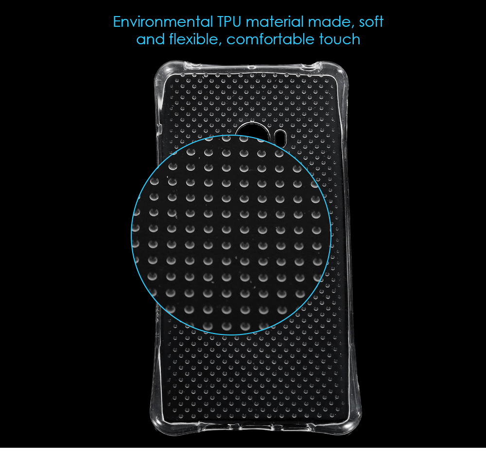 Transparent Style TPU Soft Case Protective Cover for Xiaomi Note 2 with Salient Points Design