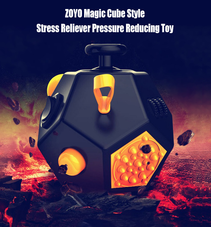 ZOYO Dodecahedron Magic Cube Style Stress Reliever Pressure Reducing Toy for Office Worker