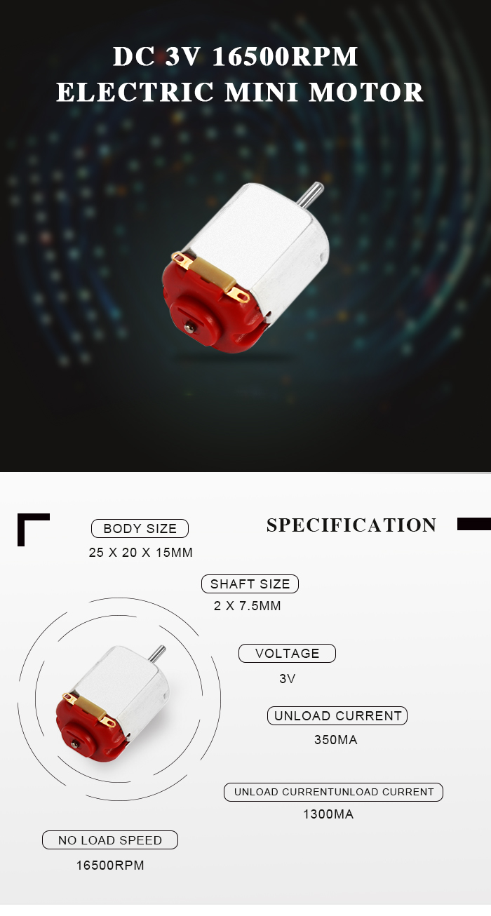 DC 3V 16500RPM Micro Motor for DIY Smart Car Model Toy