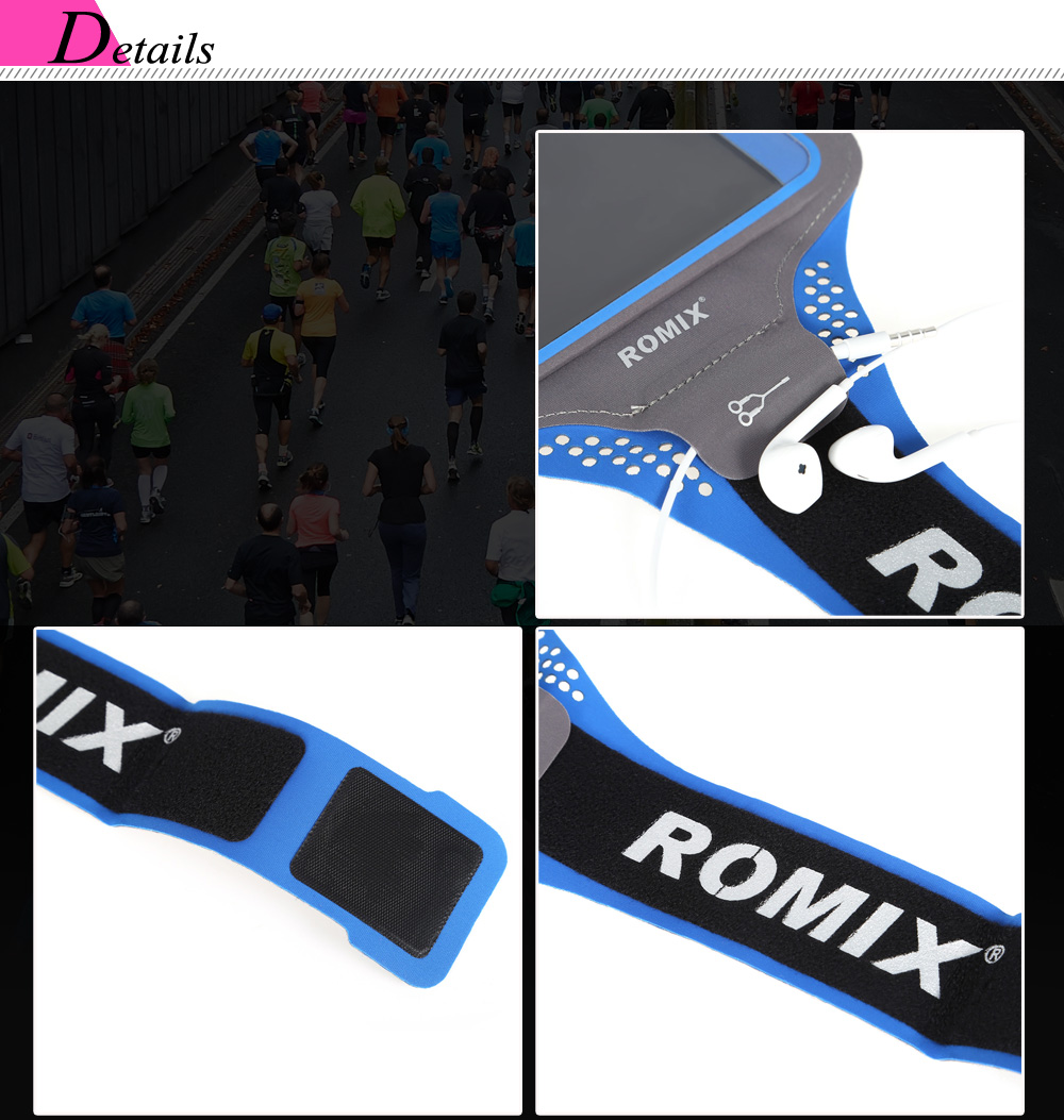 ROMIX RH18 Water-resistant Spandex Sports Arm Bag Pouch for 4.7 / 5.5 inch Mobile Phone