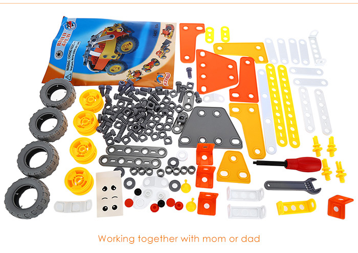 Transformable Vehicle DIY Assembly Kit with 5 Shapes Intelligence Development Toy for Kids