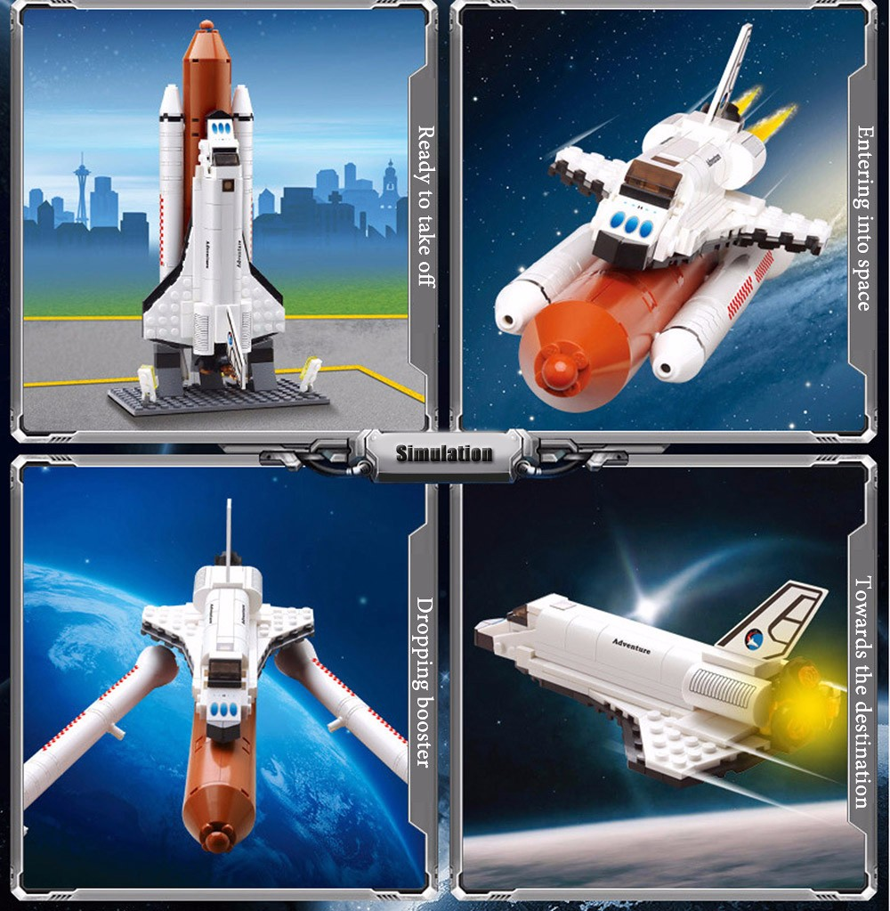 ABS Spacecraft Launch Pad Building Block Product Beginner Level Kid Toy - 194pcs