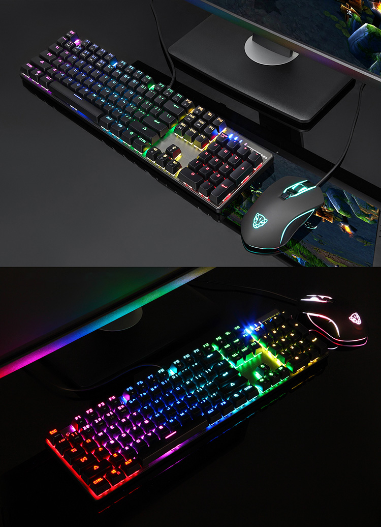 Motospeed CK888 RGB Backlight Mechanical Keyboard + Mouse Combination