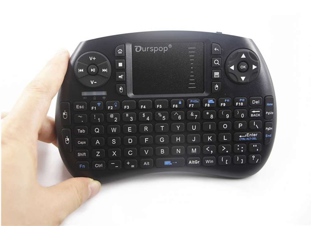 OURSPOP R7 2.4G Mini Wireless Keyboard Rechargeable Backlit Air Mouse