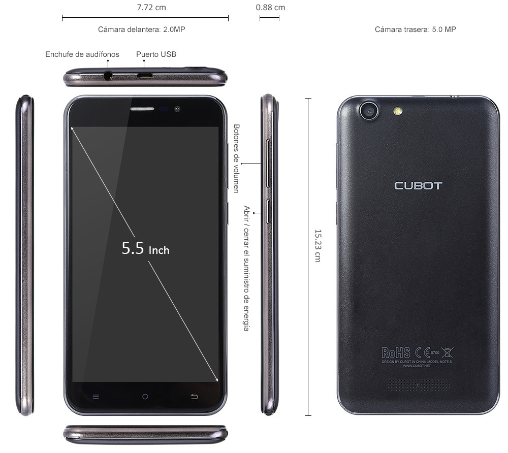 CUBOT NOTE S Phablet 3G