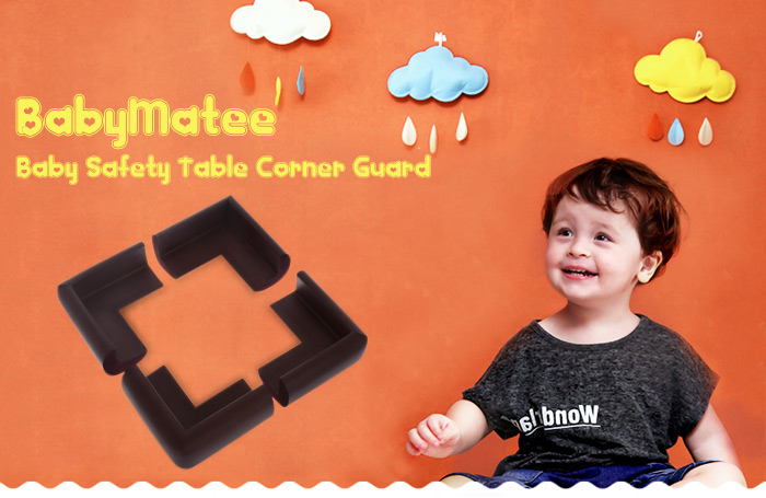 12PCS BabyMatee Baby Infant Safety Anti-collision Table Desk Corner Guard Protector