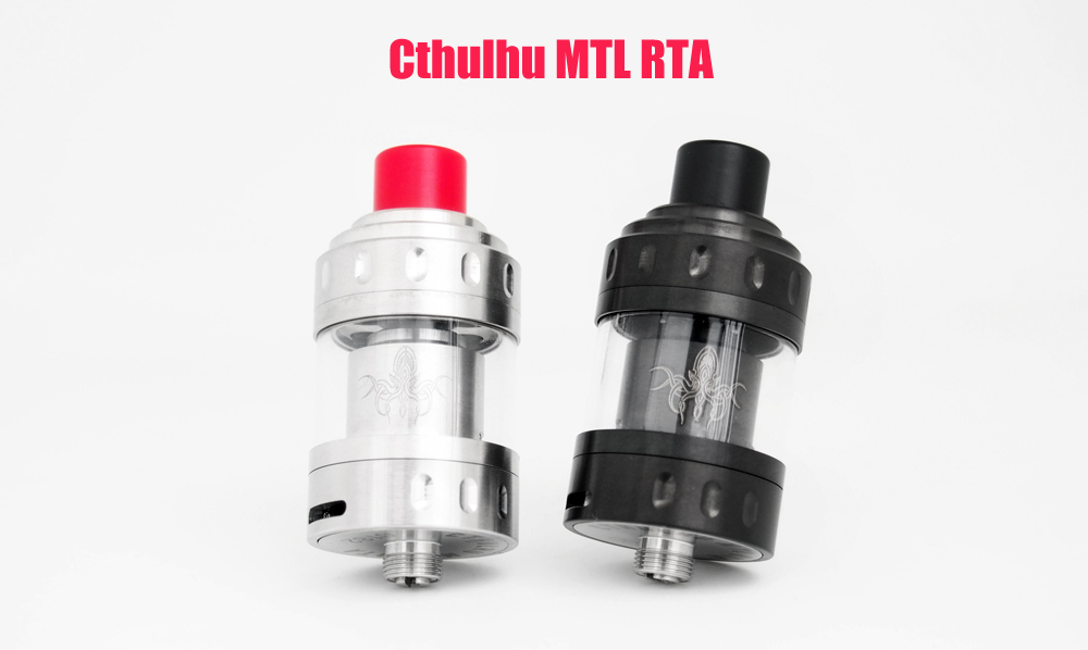 Original Cthulhu MTL RTA with 3ml Capacity / Top Filling / Bottom Adjustable Airflow for E Cigarette