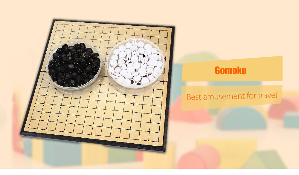 C - 5 Magnetic Gomoku Board Game with Foldable Checkerboard Toy for Intelligence Development