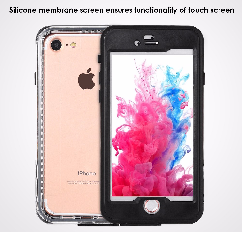 Lightweight IPX68 Waterproof Protective Case for iPhone 7 Dust-proof Anit-drop Mobile Shell